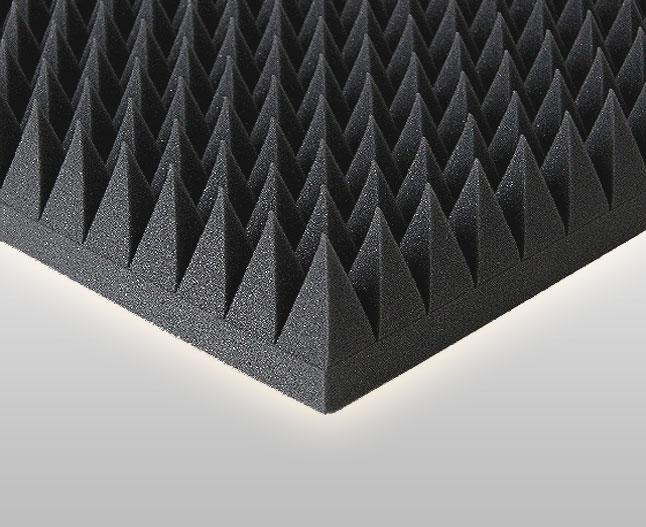 20m akustik pyramiden schaumstoff d mmung schallschutz. Black Bedroom Furniture Sets. Home Design Ideas